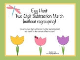 Egg Hunt Two Digit Subtraction Match (without regrouping)