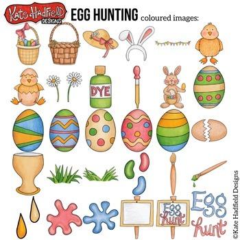 """Easter Clip Art: """"Egg Hunting"""""""