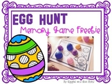Egg Hunting Matching Game FREEBIE