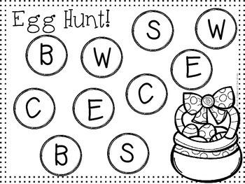 Egg Hunting Matching Game FREEBIE