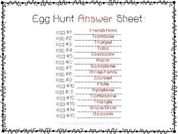 Egg Instrument Scavenger Hunt
