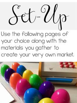Egg Market: Plastic Eggs Pretend Play Resources & Math Center