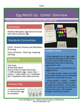 Egg Match Up Science Center