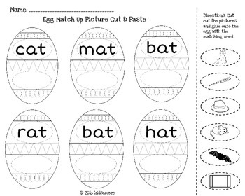 Egg Match-Up (Word Family -at)