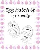 Egg Match-Up (Word Family -et)