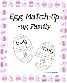 Egg Match-Up (Word Family -ug)
