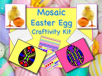Egg Mosaic Craftivity Kit - Great for Easter - Print and Go - NO PREP!