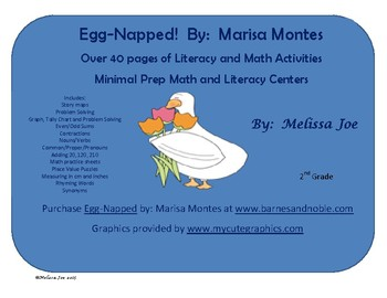 Egg-Napped!  By:  Marisa Montes Over 40 pages of Literacy and Math Activities