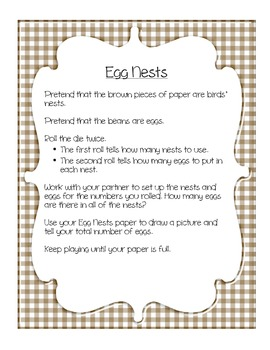 Egg Nests - Intro. to Multiplication Activity