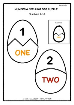 graphic regarding Name Puzzle Printable known as Egg Quantity Standing Puzzle KG and Quality 1 Children