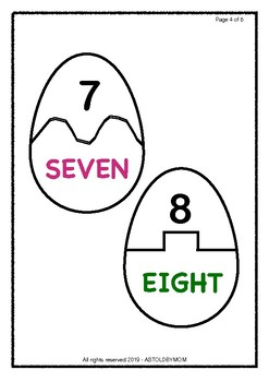 Egg Number Name Puzzle – KG and Grade 1 Kids