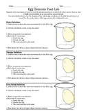 Egg Osmosis Lab Report