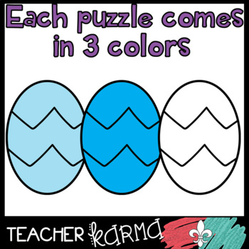 Egg Puzzle Templates - Clipart