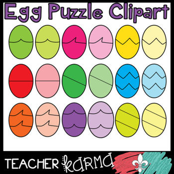 Egg Puzzle Templates - Clipart