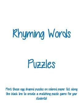 Egg Rhyming Words