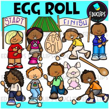 Egg Roll Clipart Big Bundle {Educlips Clipart}