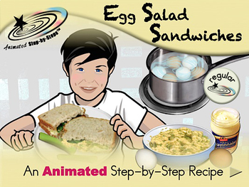 Egg Salad Sandwiches - Animated Step-by-Step Recipe