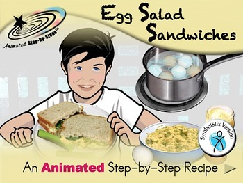 Egg Salad Sandwiches -Animated Step-by-Step Recipe SymbolStix