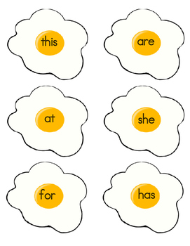 Egg Sight Word Game