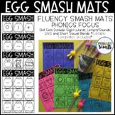 Egg Smash Phonics Fluency Mats, K-1: Editable