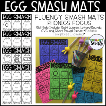 Egg Smash Phonics Fluency Mats, K-1: Editable