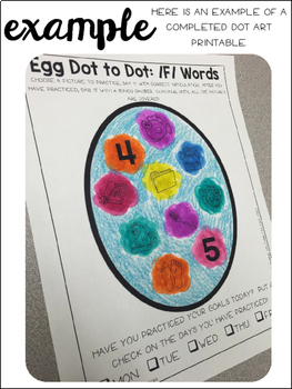 Egg {Speech & Language Dot Art}