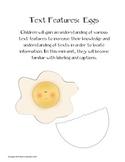 Egg Text Features, Label & Caption
