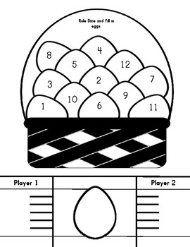 Egg Themed Roll and Cover Activities