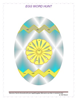 Egg Word Hunt