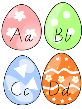 Egg alphabet letter sorting (VIC font)