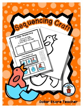 Egg and Chick - Life Cycle - Spring - Sequencing Reader Mat & Craft Page