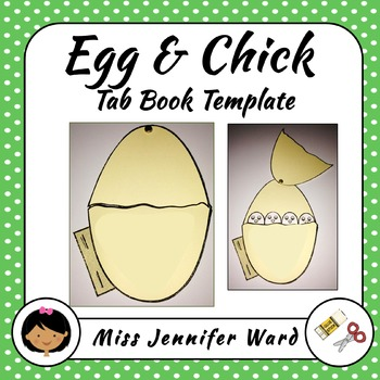 Egg and Chicks Tab Book Template
