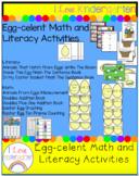 Egg celent Math and Literacy Activities