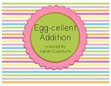 Egg-cellent Addition - Easter or Spring Center Activity and Worksheet