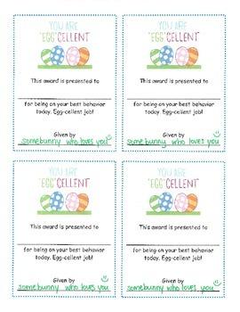 Egg-cellent Behavior Award