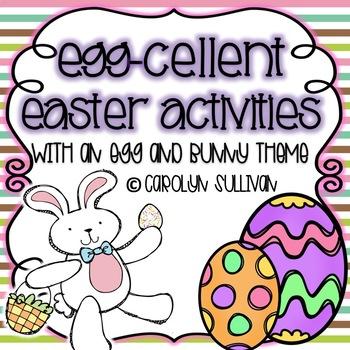 Egg-cellent Easter Activities - Kindergarten Common Core S