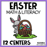 Easter Centers: Math & Literacy Activities for Pre-K & Kindergarten BUNDLE