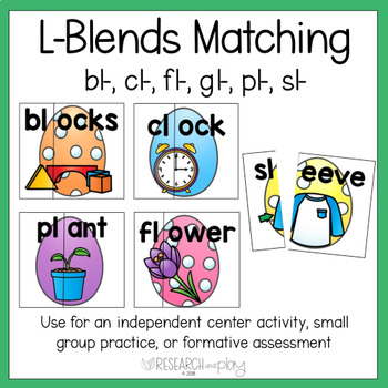 Easter L Blends Matching Activity