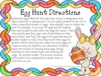 Egg-cellent Math Hunt- fluency to 10