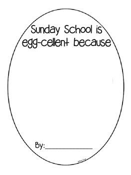 Egg-cellent Spring Bulletin Board or Class Book Craftivity for Grades K-2
