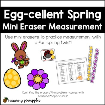Egg-cellent Spring Measurement... with mini erasers!