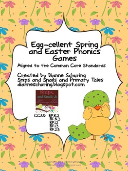 Egg-cellent Spring and Easter Phonics Games {Aligned for the CCSS}