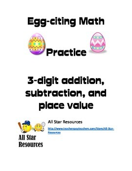 Egg-citing Math Practice 3-digit numbers