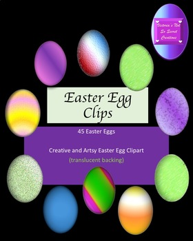 Egg clip art for Easter Translucent backing and 3 Dimensional ++++