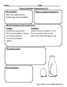 Egg in a Bottle Fill-in Lab Reports