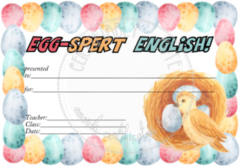 Egg-spert English! Certificate