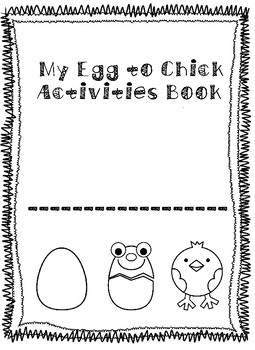 Egg to Chick themed NO PREP Activity Book!