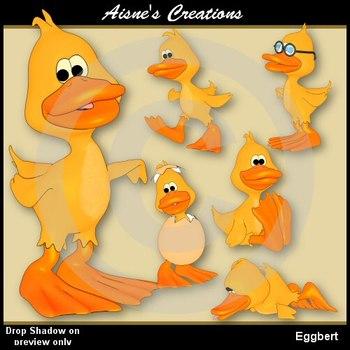 Eggbert Duck Clip Art