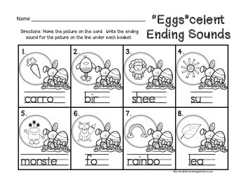 """Egg""celent Ending Sounds {FREE}"