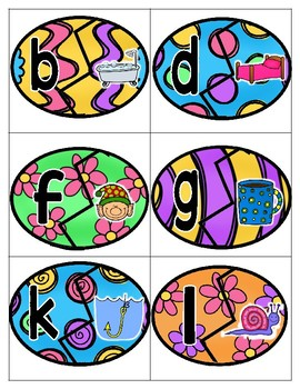 Eggcellent Endings Easter Ending Sounds File Folder Game